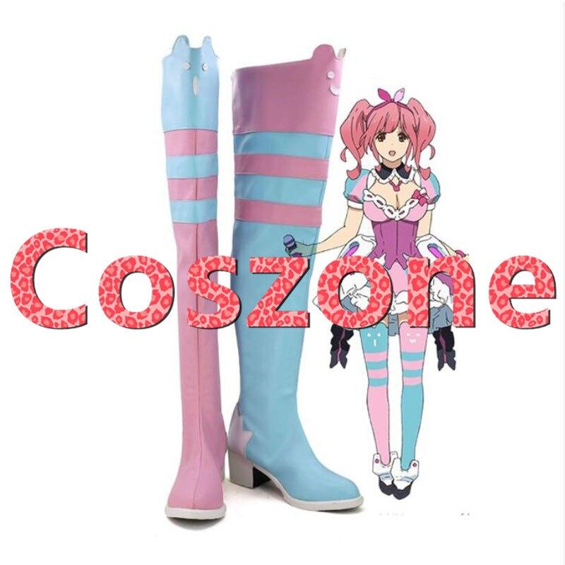 Macross Delta Makina Nakajima Cosplay botas zapatos de Halloween del traje de Cosplay Accesorios