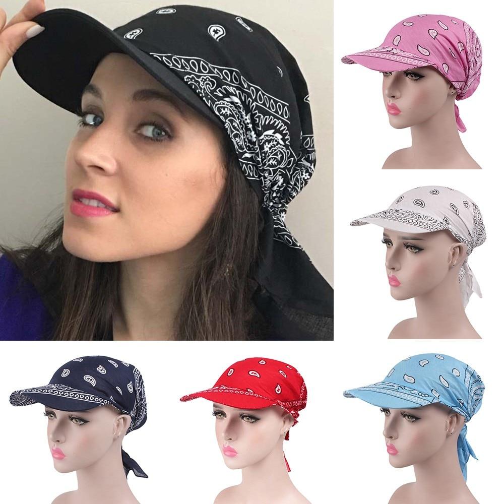 Hawcoar Fashion Women India Muslim Retro Floral Cotton Towel Cap Brim Turban Baseball Hat Wrap Beanies шляпа женская летняя Z5