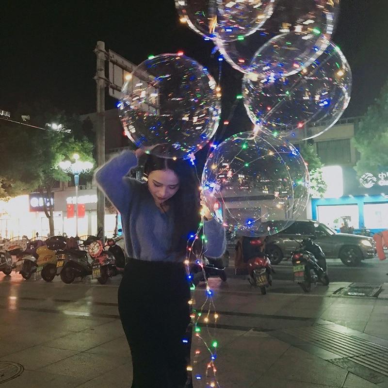 50 шт./лот Воздушные шары светодиодные гирлянды 18 см гелиевый мигалка-Декор-освещение-шар-игрушка для детей Свадебная вечеринка бар дворовое...