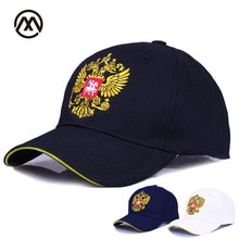 Nueva gorra de béisbol neutra de algodón con bordado de insignia de Rusia, gorra deportiva a la moda para hombre y mujer con gorra patriota bone