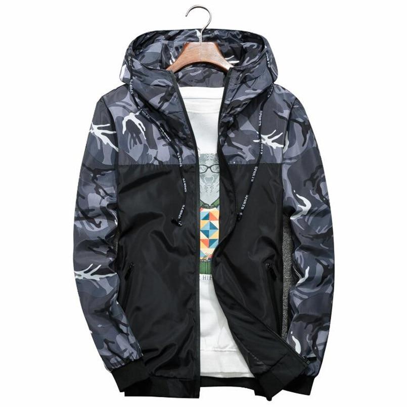 2020 chaqueta de moda para hombre, chaqueta fina de manga larga de camuflaje militar, chaquetas con capucha, rompevientos, cremallera, prendas de vestir, ropa de marca del ejército
