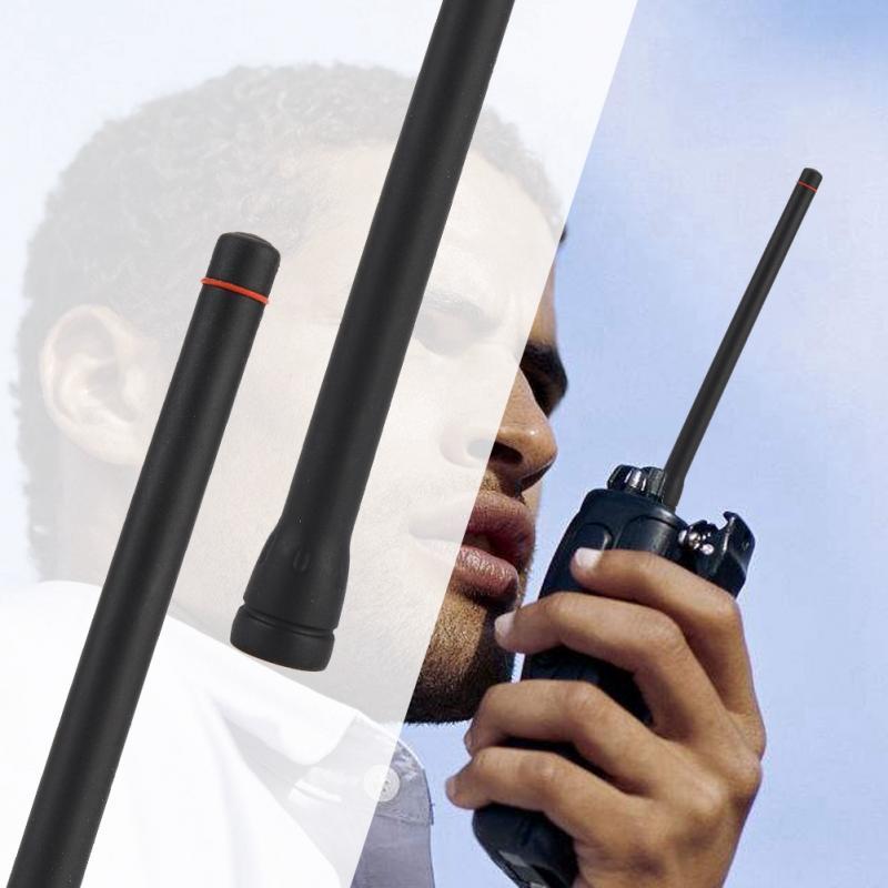 4 Uds 16cm portátil Radio walkie talkie antena VHF de Radio de dos vías, 50 OHM, 136-174mhz 1.8dBi antena para Icom IC-F3