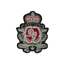 Insigne couronne en soie Imitation inde   Patch brodé cousu sur les vêtements, Badge personnalisé appliqué bricolage, emblème de étrangers choses 3D