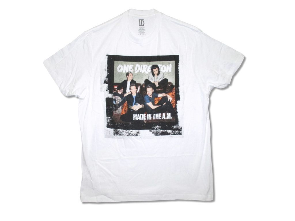 Una dirección hecha en la mañana. Camiseta de algodón de manga corta de Banda de Música Pop de banda camiseta blanca para adultos
