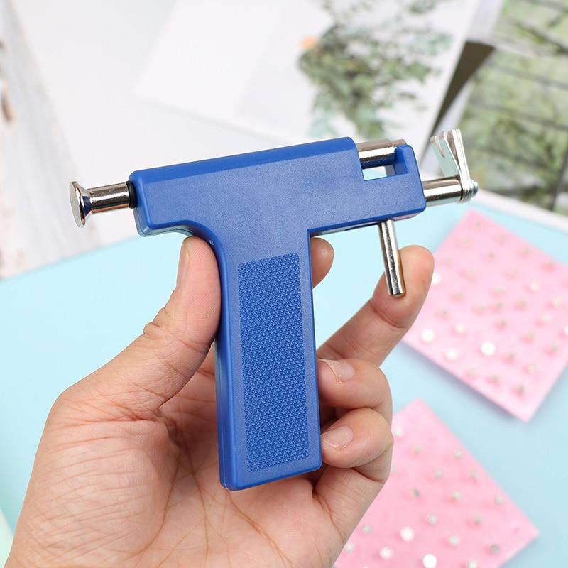 Acero inoxidable profesional azul oreja Piercing arma seguridad pendiente cuerpo Piercing pistola herramientas Kit joyería herramientas