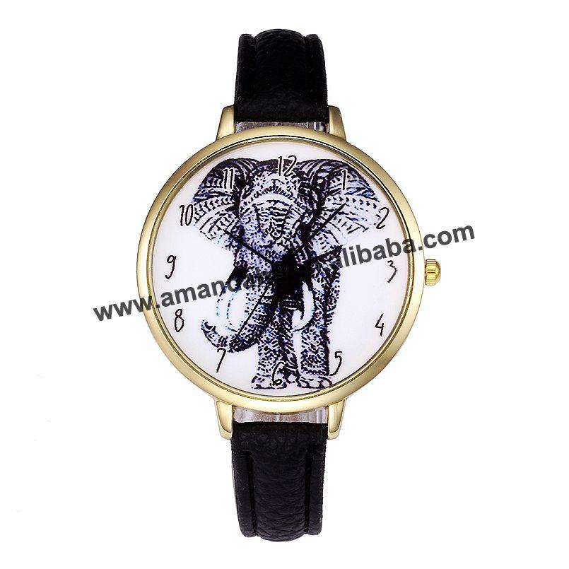 ساعة كوارتز جلد للنساء ، فيل أسود ، عصري ، مجموعة جديدة ، عرض خاص ، فستان نسائي ، 8233