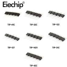 7 valores * 5 uds Transistor Mosfet de TIP31C TIP32C TIP41C TIP42C TIP122 TIP127 TIP142-220 Transistor Mosfet Kit de surtido de