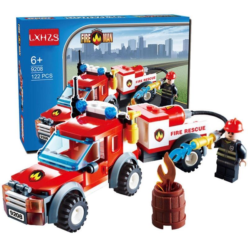 122pcs Fire Rescue Series Water fire Car Emergency Fire Fireboat Truck Children Educational Assembled Toys Building Blocks Brick