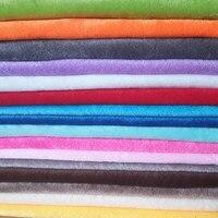 Разноцветная мягкая флисовая ткань, 1 мм, полиэфирная флисовая начесанная ткань для пэчворка, Набивная игрушка для кукол, ткань 50x50 см