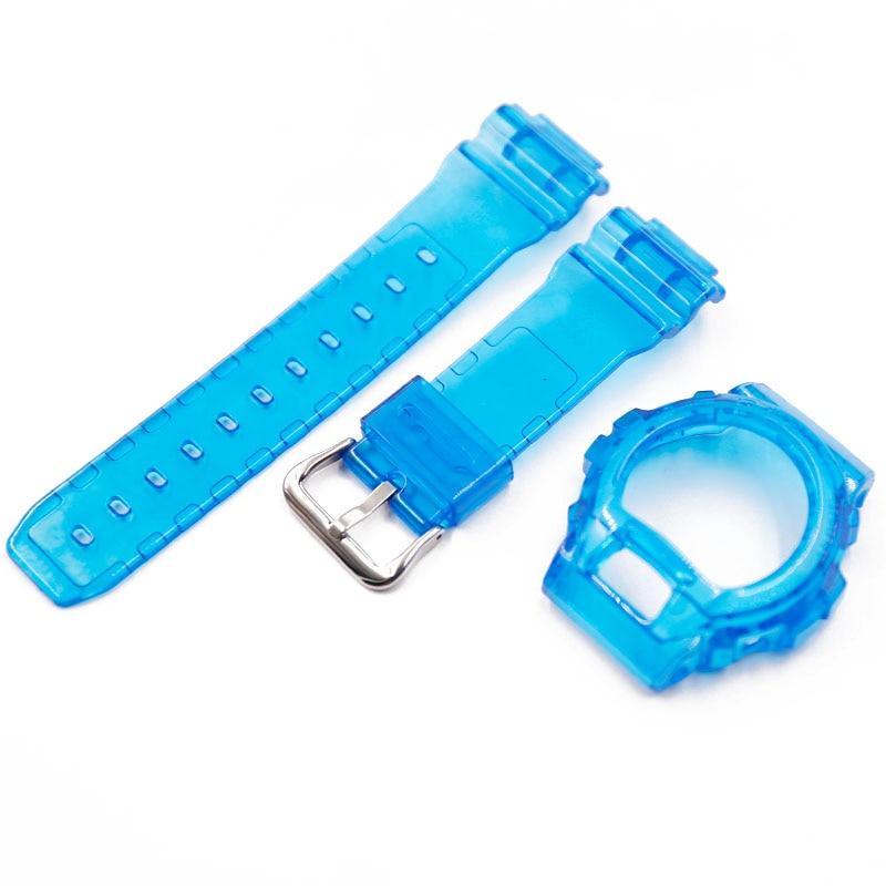 Купить с кэшбэком Resin strap men's pin buckle watch accessories for Casio watches G-SHOCK DW-6900 case strap DW-6600DW-6900CL-4 rubber strap