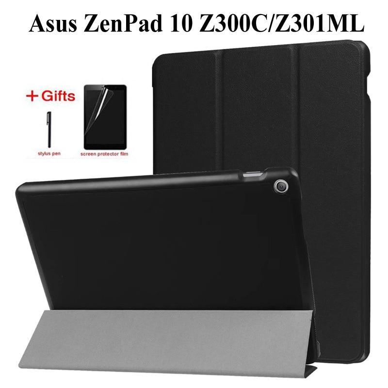 Slim funda de piel PU abatible para Asus ZenPad 10 Z300 Z300C...