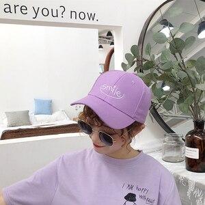 Fashion Casquettes 2020 Summer Baseball Cap Women Korean Ulzzang Harajuku Lovely Casual Snapback Hat Female Purple Hip Hop Caps