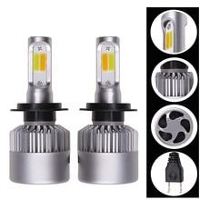 Car Headlight S2 H4 H7 LED Bulb 3000K 6000K H1 H3 H8 H11 9005 9006 HB4 880 881 LED Dual Color Yellow White Automotive Fog Lamp