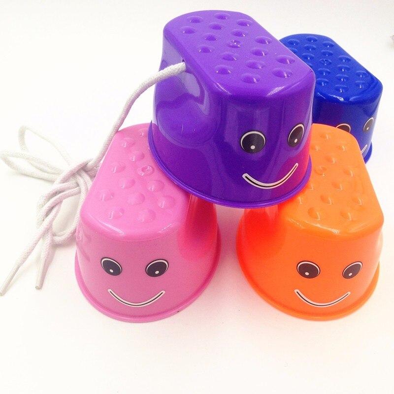 Bastón de plástico de alta calidad en 4 colores, juguete de entrenamiento de equilibrio deportivo divertido para saltar al aire libre para niños jugando