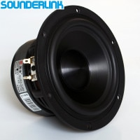 1PC Audio Labs woofer sub-woofer speaker driver 5.25 inch HiFi transducer aluminium Ceramics frame pots middle range Bass