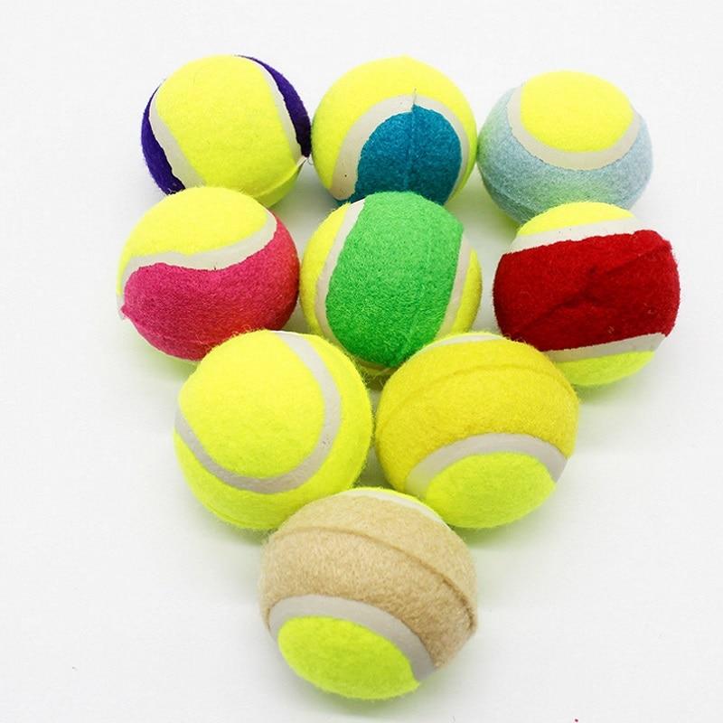 Haustier Hund Gummi Tennis Ball Interaktive Spielzeug Hund Welpen Elastizität Ball Kauen Spielzeug Hund Welpen Zähne Sauber Ausbildung Spielzeug Geschenk liefert