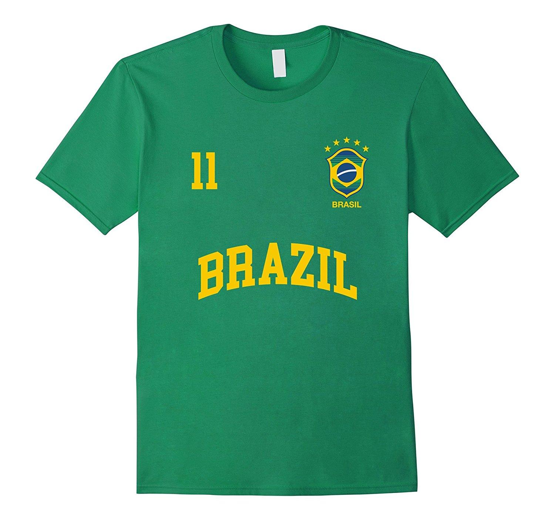2019 gorąca sprzedaż męska nowa moda T Shirt brazylia koszulka numer 11 (powrót) brazylijski Soccers Team Shirt piłkarz T Shirt sprzedaż