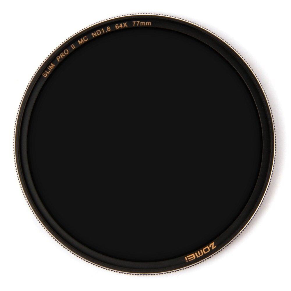 Zomei Filtro ND8 ND64 ND1000 مرشح محايد متعدد المغلفة الكثافة مرشح الزجاج البصري الشظية Rimmed 49 52 55 58 62 67 72 77 82 مللي متر