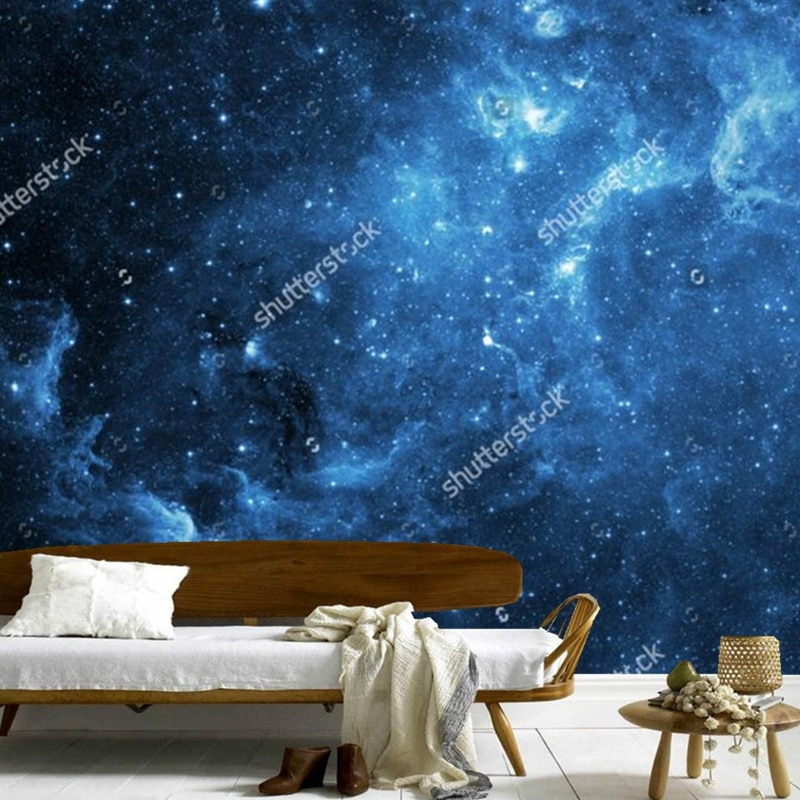 Papel tapiz de cielo cósmico, galay, mural moderno 3D para la sala de estar, dormitorio, Fondo de techo, papel tapiz impermeable para pared