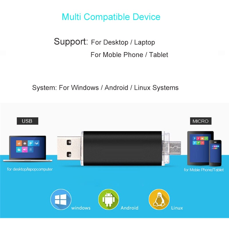 Mini USB Flash Drives 8GB 4GB 16GB 32GB Pendrive 64G OTG Pen Drive 2.0 USB Memory Stick For Android Phone Computer enlarge