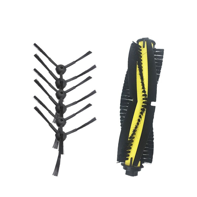 replacement for ilife v7 v7s v7spro kitfort KT520 Robot Vacuum Cleaner 6pcs Side Brush +1pcs main brush Parts accessories
