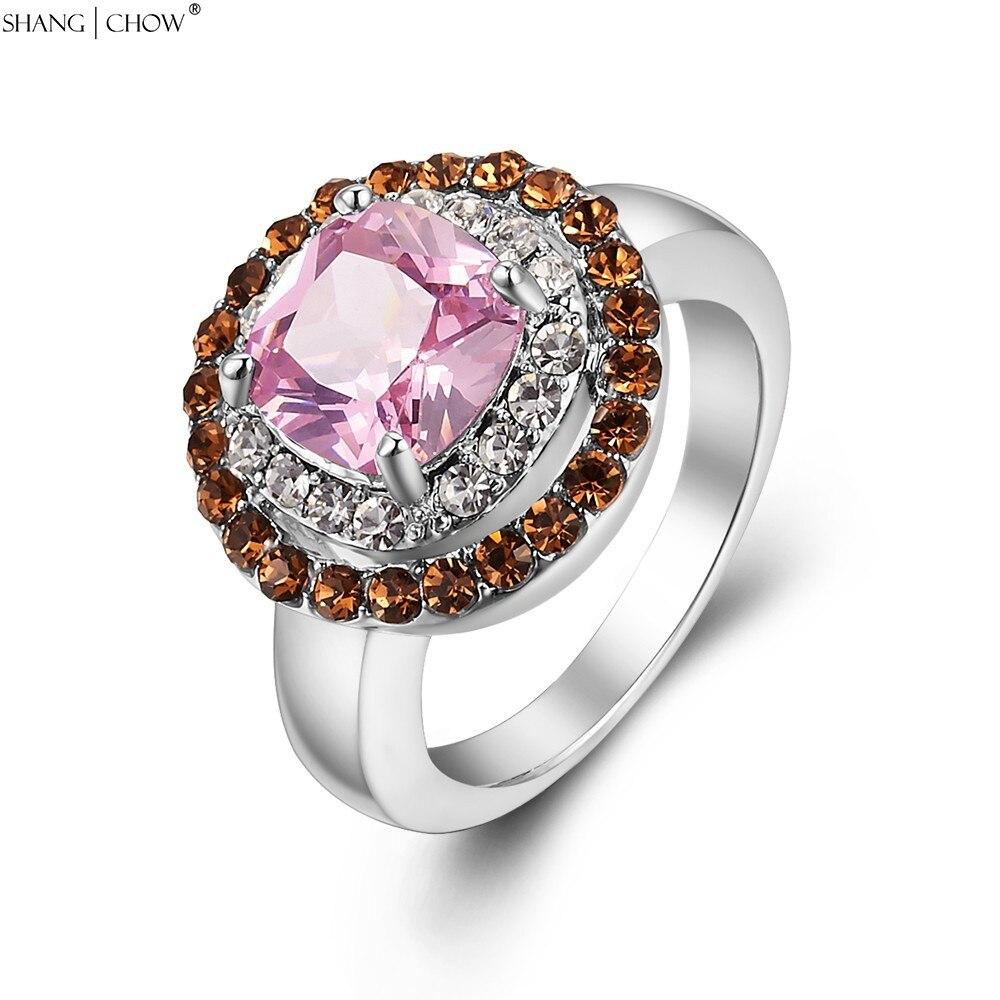 Charme na moda Jóias Morganite Em Torno Rosa Kunzite Pedra 925 Anel de Prata Esterlina para mulheres cocktail prom R1286