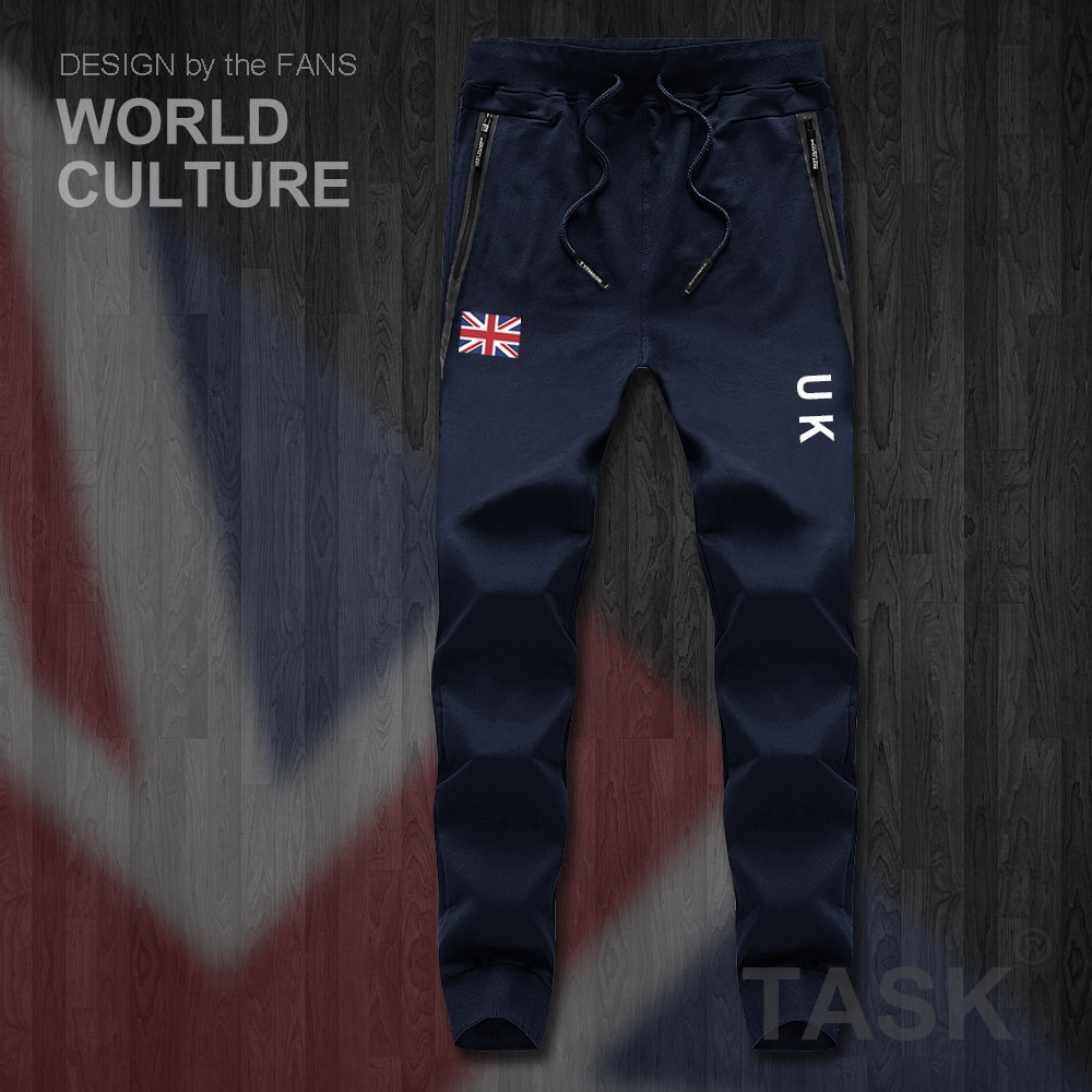 UK United Kingdom of Great Britain GB mens pants joggers jumpsuit sweatpants track sweat fitness fleece tactical casual nation