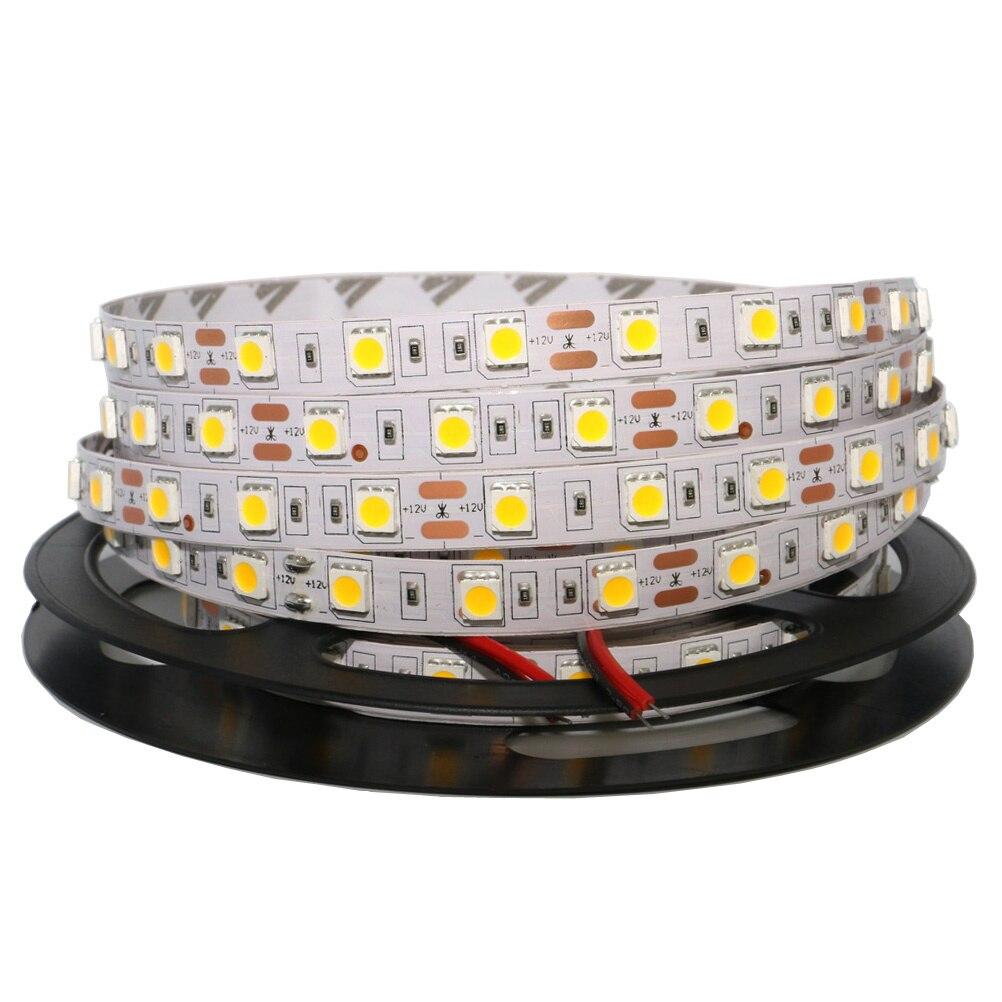 0,5/1/2/3/4/5 M tira de LED de luz LED RGB SMD 5050 cinta no impermeable tira de LED barra de luz de la secuencia de vacaciones luces de la decoración DC12V