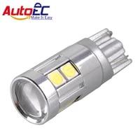 autoec 100x car styling w5w led t10 3030 9smd car lamps 168 194 turn side license plate light car parking light dc12 24v lb167