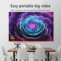 Ecran de Projection blanc Portable pliable de 84 pouces 16 9  pour projecteur HD  cinema a domicile  fete