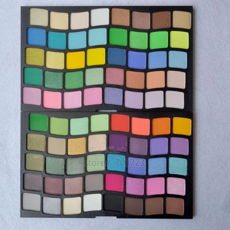 Pro 80 colores luminosos y Mate paleta de sombra de ojos en polvo sombra de ojos conjunto de maquillaje paleta cosmética P80
