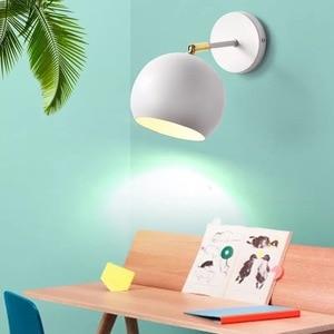 LED European style simple indoor lighting home study restaurant loft children's bedroom bedside stairs bathroom wall lamp