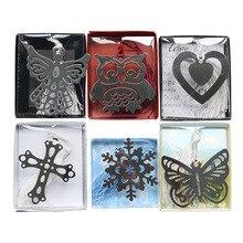 1 marcapáginas metálico creativo y bonito, regalos para actividades de Navidad, copos de nieve, marcapáginas con forma de mariposa, material de papelería bonito para niños