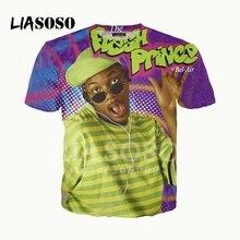 LIASOSO NOUVEAU 3D Imprimer Femmes Hommes Will Smith Le Prince de Bel-Air Tshirt T-shirt Dété pullover décontracté Manches Courtes X2461