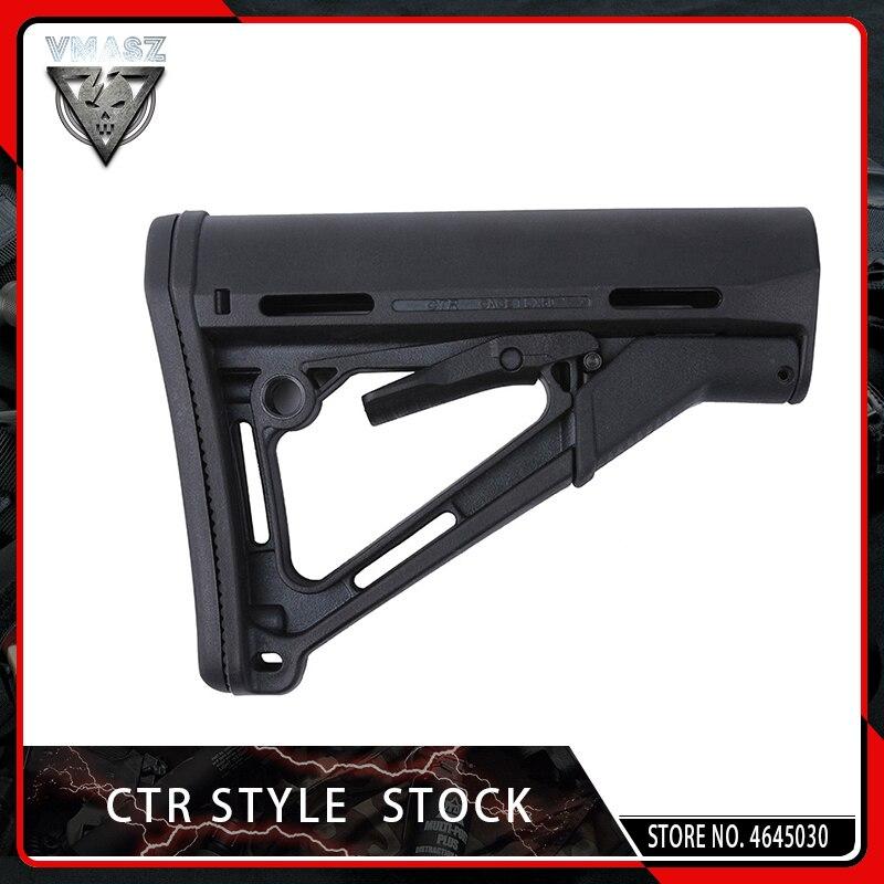 VMASZ táctico CTR Stock versión superior versión común para Airsof AEG accesorios de caza Nylon negro