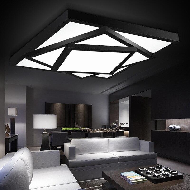Moderna del envío libre llevó la lámpara de luces de lámparas de techo para la sala de estar dormitorio lustres de sala inicio iluminación interior regulable