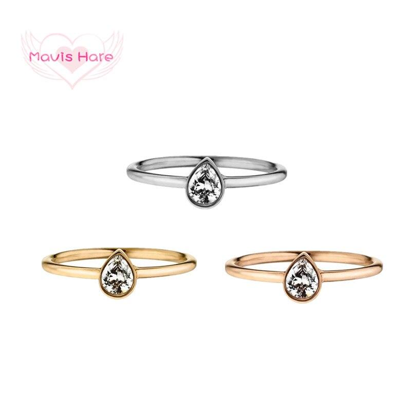 Mavis Hare кольцо из нержавеющей стали с каплевидными кольцами, женские кольца, лучший подарок для пляжных девушек, подарок на день матери, размер 6-9