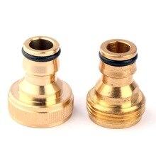 Connecteurs rapides robinet de jardin   Pince en cuivre pur 2 types G3/4 femelle, connecteur de filetage de robinet, Joints durables dirrigation