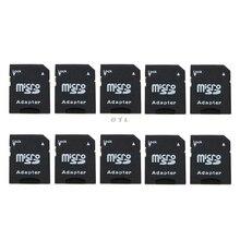 10 pièces Micro SD TransFlash TF vers SD SDHC carte mémoire adaptateur convertisseur noir