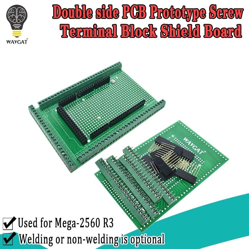 WAVGAT Doppel-side PCB Prototyp Schraube Terminal Block Schild Board Kit Für MEGA-2560 Mega 2560 R3 Mega2560 R3