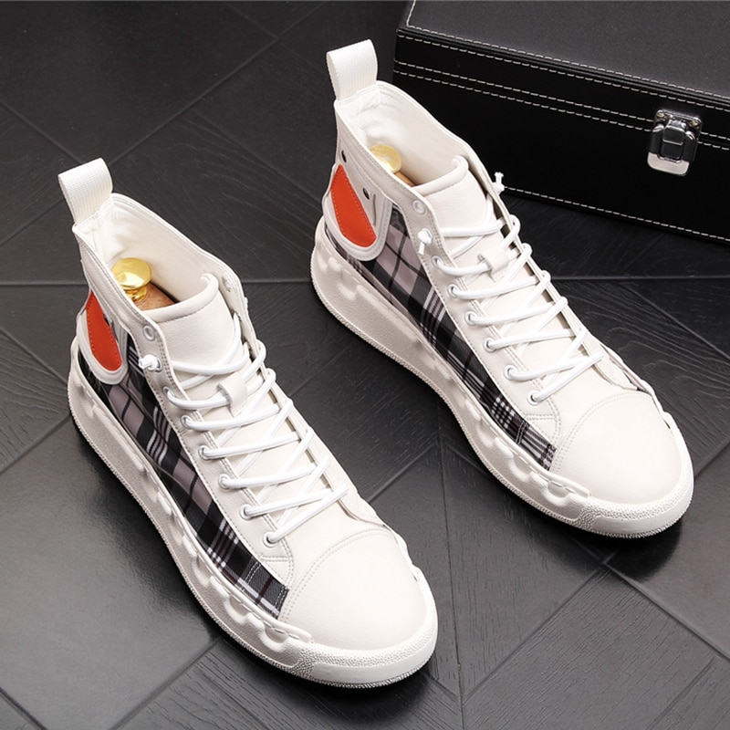 Stephoes Luxus Marke Männer Casual Stiefeletten Frühling Herbst High Top Männer der Vulkanisieren Komfortable Turnschuhe Fuß Freizeit Schuhe