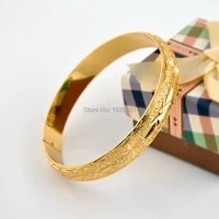 womens bangle solid wrist bracelet yellow gold filled wedding female star carved diameter 6cm womens classic accessories