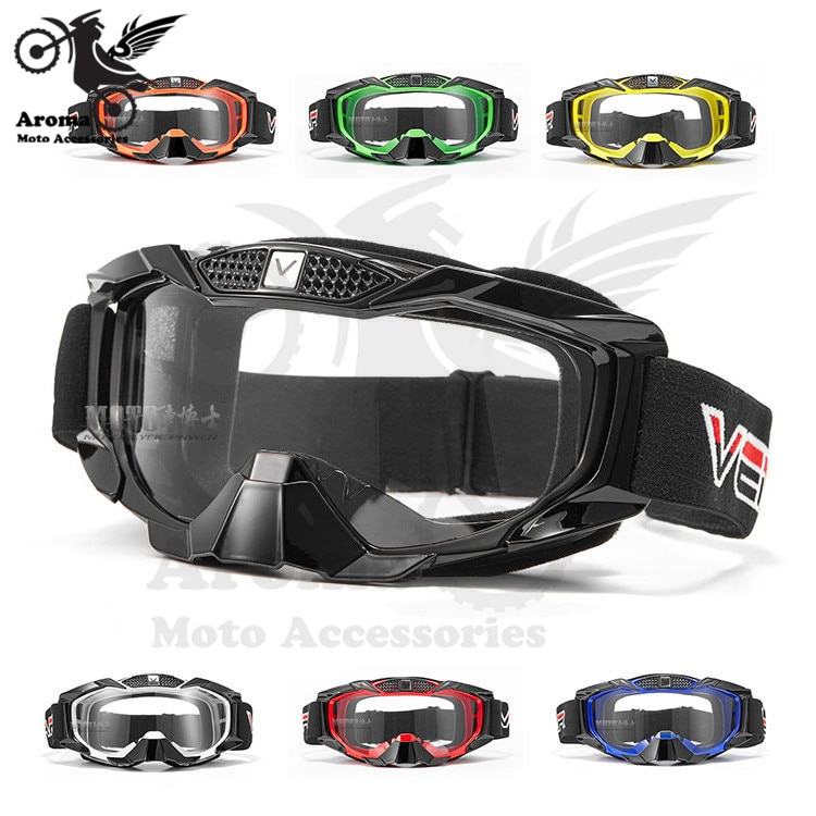 professional clear lens ski eye glasses protection colorful decal riding moto parts outdoor protect windproof sport skiing glasses racing motorcycle goggle for husqvarna KTM dirt pit bike goggles motocross accessories motorcycle atv riding scooter driving flying protective frame clear lens portable vintage helmet goggles glasses for 2009 buell xb12r