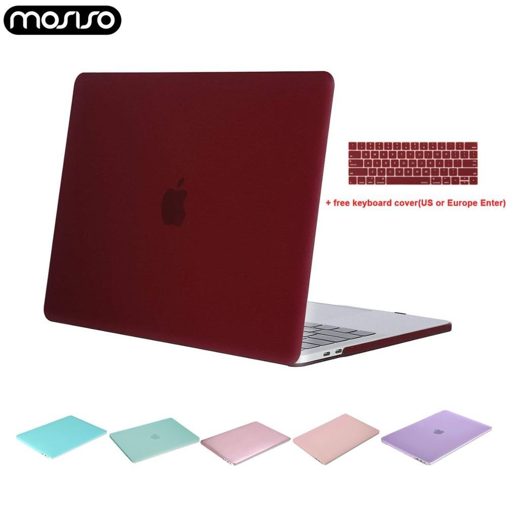 Жесткий чехол для ноутбука MOSISO, прозрачный чехол для Macbook Air Pro 13 дюймов, сенсорная панель 13 15 A1706 A1989 A2159 New Air13 A1932 + чехол для клавиатуры