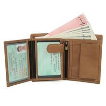 Rfid porte-monnaie en cuir véritable femmes   Bonne qualité, porte-monnaie, porte-monnaie monnaie, petit porte-cartes féminin, porte-monnaie Walet Lady