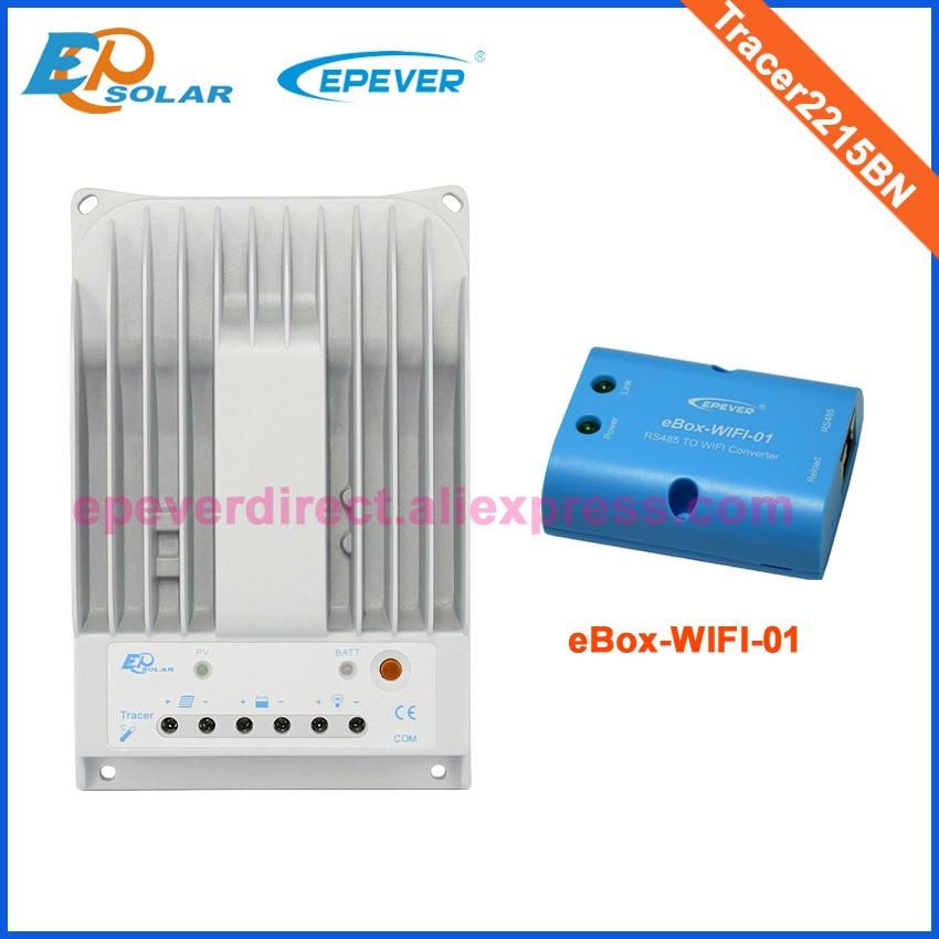 Denetleyici 20A 20amps EPEVER ücretsiz kargo wifi eBOX Tracer2215BN EPEVER güneş taşınabilir regülatörü şarj cihazı pil 24V