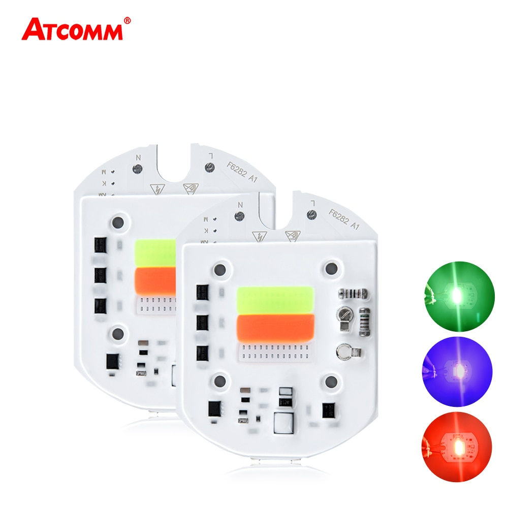 RGB LED COB lámpara de Chip 50W alta potencia LED diodo reflectores de luz fuente inteligente IC Auto cambiar colores 110V 220V
