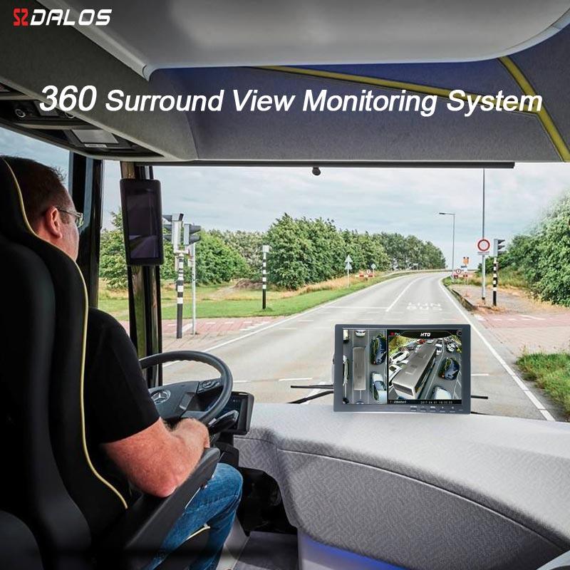 Система объемного обзора SZDALOS 3D HD 360 для автобусов, RV, автодомов, грузовиков с HD 1080P 4-CH DVR рекордером