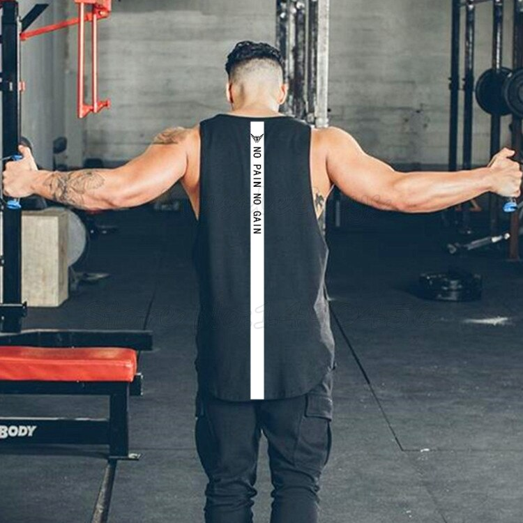 Marca gimnasios de hombre, ropa de fitness muscular Camiseta de algodón de culturismo stringer tank top camiseta sin mangas chicos musculosos chaleco
