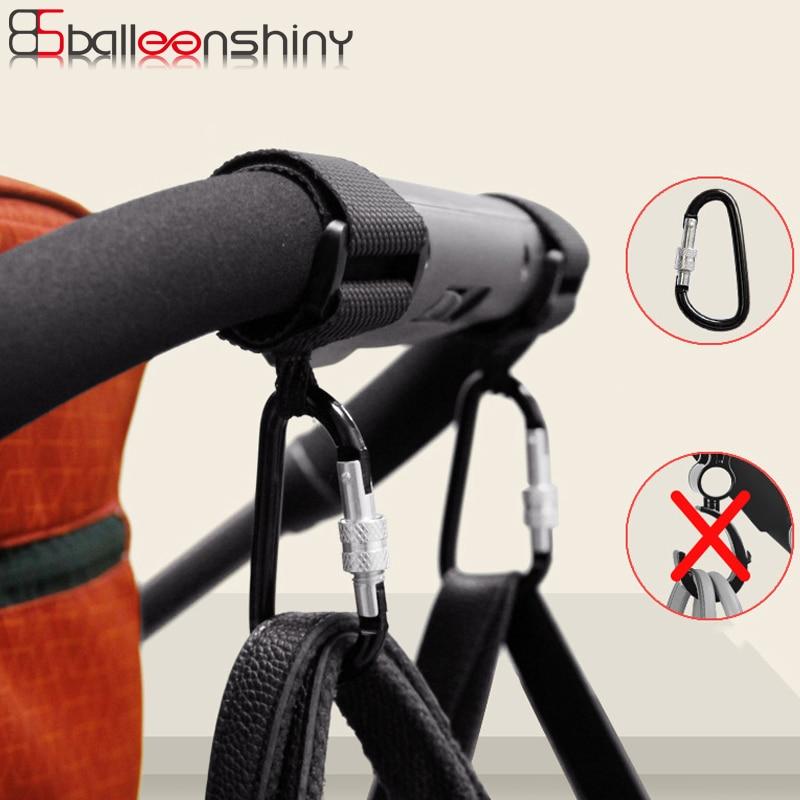 BalleenShiny 1pc Baby Stroller Accessories Multi Purpose Baby Stroller Hook Shopping Pram Hook Prop Hanger Metal Convenient Hook